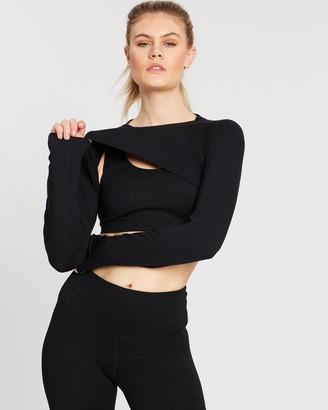 Gaiam Flow Fleece Cropped Sweatshirt