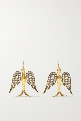Sylva & Cie 18-karat Gold, Diamond And Ruby Earrings