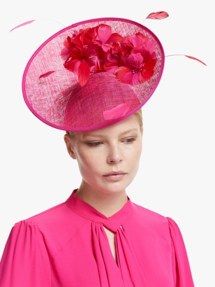 John Lewis & Partners Hannah Flower Disc Occasion Hat, Fuchsia