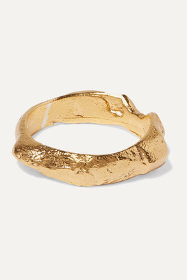 Alighieri The Edge Of The Abyss Gold-plated Ring - small