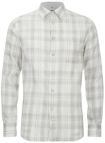 Rag & Bone Men's Beach Shirt White/Grey