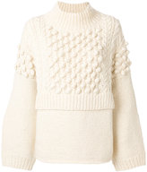 Pringle bubble stitch jumper