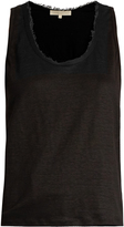 Vanessa Bruno Early scoop-neck linen-jersey tank top