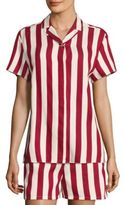 RED Valentino Striped Camp Shirt