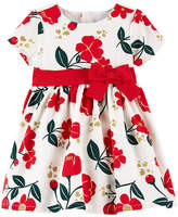 CARTERS Carter's Short Sleeve Fit & Flare Dress - Baby Girls