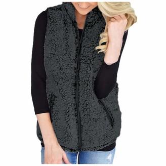 Lazzboy Women Gilet Waistcoat Jacket Vest Fleece Plus Size