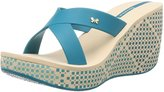 Ipanema Cruise Wedge Womens Flip Flops / Sandals - Blue Beige