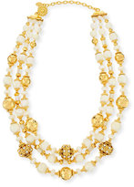 Jose & Maria Barrera Beaded Three-Strand Necklace