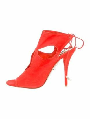 Aquazzura Sexy Thing 105 Suede Sandals w/ Tags Orange