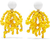 Marni Gold-tone, Enamel And Resin Clip Earrings - Yellow