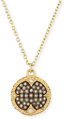 Armenta Old World Pave Diamond Disc Pendant Necklace