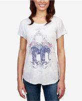 Lucky Brand Floral Elephant Graphic T-Shirt