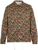 MAISON KITSUNÉ Lightweight camouflage fox-print jacket