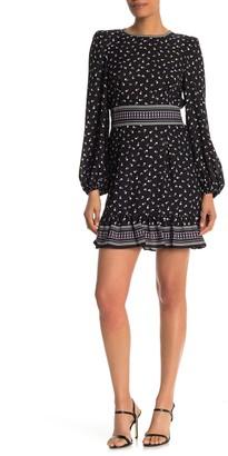Max Studio Blouson Sleeve Short Dress