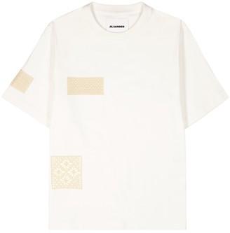 Jil Sander Off-white appliqued cotton T-shirt