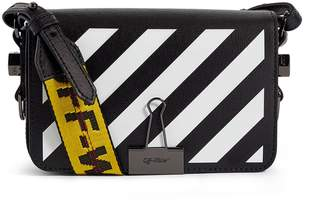 Off-White Off White Small Leather Mini Flap Cross-Body Bag