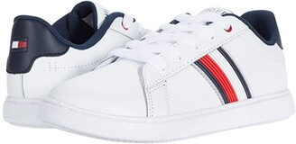 Tommy Hilfiger Iconic Court 2.0 (Little Kid/Big Kid) (White Smooth) Kid's Shoes