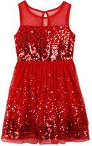 Speechless Sequin Illusion Dress, Toddler & Little Girls (2T-6X)