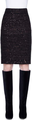 Akris Metallic Silk Sequined Skirt
