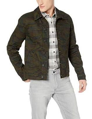 True Religion Men's Dylan Trucker Denim Jacket with Logo Zippers