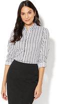 New York & Co. 7th Avenue - Madison Stretch Shirt - Dot Print - Tall