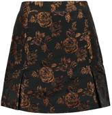 Fashion Union PROCTOR FIREFLY BROCADE Mini skirt navy gold jacquard