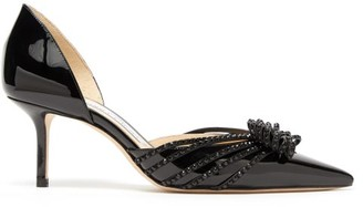 Jimmy Choo Kaitence 65 Patent-leather D'orsay Pumps - Black
