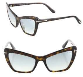 Tom Ford Valesca 55MM Mirrored Cat Eye Sunglasses