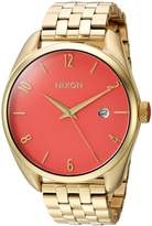 Nixon Women's 'Bullet' Quartz Stainless Steel Casual Watch, Color:Gold-Toned (Model: A4182634-00)