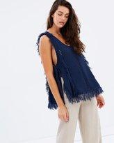 Moon River Tasseled Knit Top