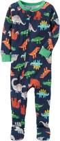 Carter's Boys' 12 Months-5T One Piece Multi Dinosaur Print Cotton Pajamas