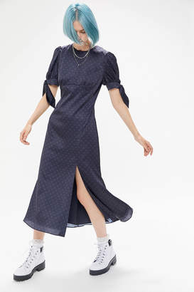 Keepsake Chateau Puff Sleeve Midi Dress