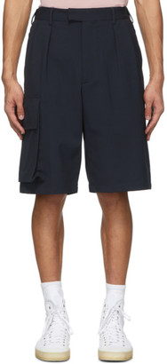 Joseph Navy Wool Worral Shorts
