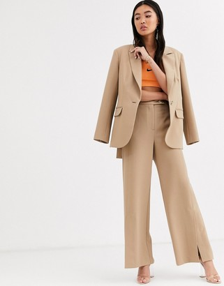 ASOS twill tailored split front trouser