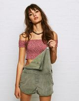 American Eagle Outfitters Don't Ask Why Smocked Off-the-Shoulder Crop Top