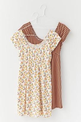 Urban Outfitters Lora Short Sleeve Mini Frock Dress