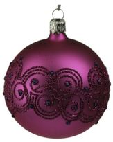 Briefing Filigree Glitter Glass Ornament