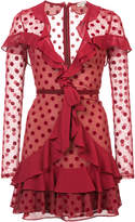 For Love & Lemons polka dot ruffled dress