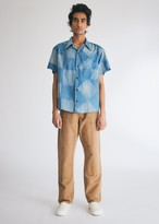 story. Mfg. mfg. Men's Shore Shirt in Indigo Checker, Size Small
