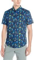 Original Penguin Men's Short Sleeve Jelly Fish Button Down Shirt