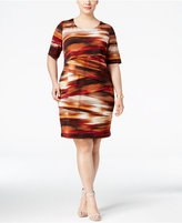 Connected Plus Size Printed Tiered Shift Dress