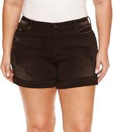 Boutique + + Denim Shorts-Plus