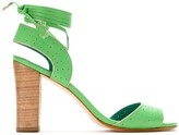 Sarah Chofakian tie ankle leather sandals