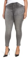 Melissa McCarthy Plus Size Women's Welt Pocket Stretch Pencil Jeans