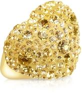 Forzieri Gisèle St.Moritz Fantasmania - Gold Crystal Big Heart Ring