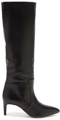 Paris Texas Knee-high Leather Boots - Black