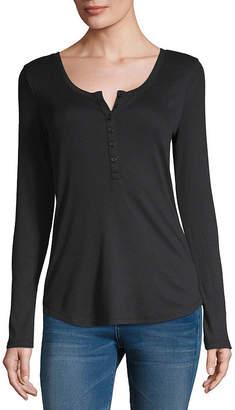 A.N.A Womens Long Sleeve Henley Shirt