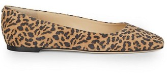 Jimmy Choo Mirele Leopard-Print Leather Ballet Flats