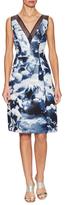 Carolina Herrera Mesh Contrast Printed A Line Dress