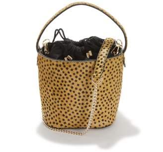 Petite Mendigote Tonnerre Polka Dot Leather Bucket Bag